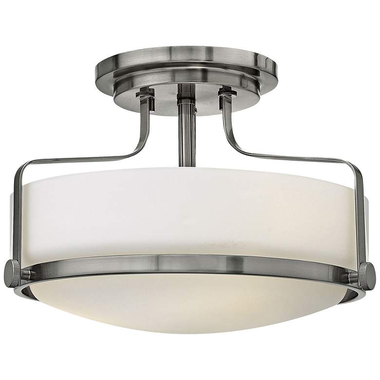 "Hinkley Harper 14 1/2"" Wide Brushed Nickel Ceiling Light"
