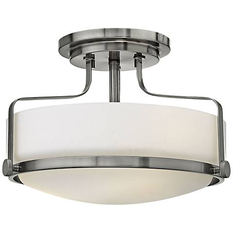"Hinkley Harper 14 1/2"" Wide Brushed Nickel Ceiling Light"