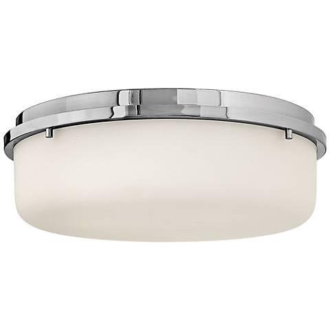 """Hinkley Turner 16"""" Wide Chrome Ceiling Light"""