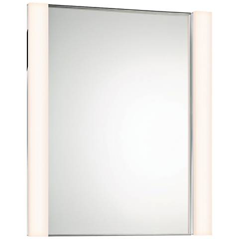 "Sonneman Wide 30"" x 36 1/4"" Mirror with 2-LED Lights"