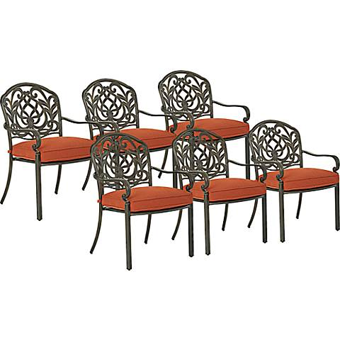 Riviera Bronze Outdoor Dining Chair Set of 6