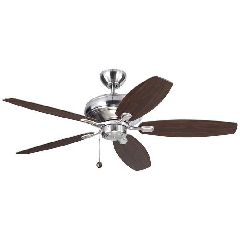 """52"""" Monte Carlo Centro Max Brushed Steel Ceiling Fan"""