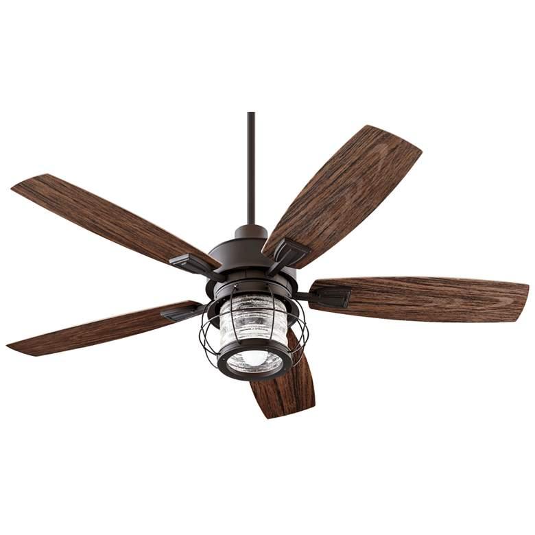 """52"""" Quorum Galveston Oiled Bronze Patio Ceiling Fan"""