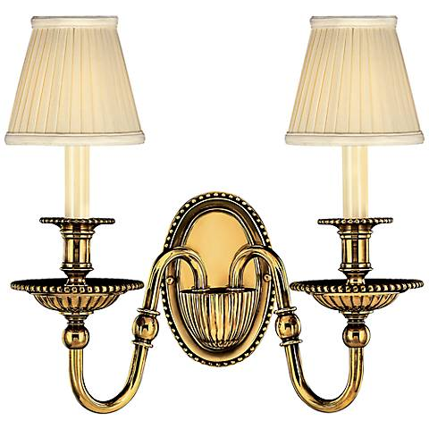 "Cambridge 15""H Burnished Brass 2-Light Wall Sconce"
