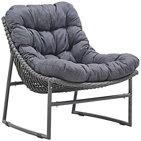 Zuo Ingonish Beach Cozy Weave Gray Aluminum Outdoor Chair