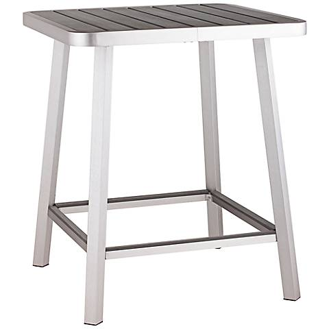 Zuo Megapolis Square Outdoor Aluminum Bar Table