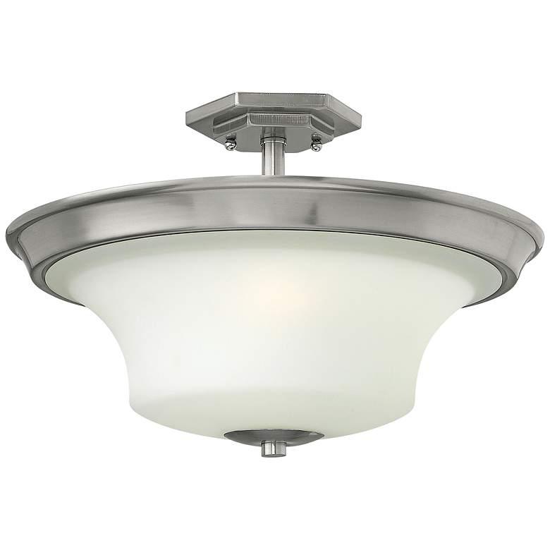 """Hinkley Brantley 17""""W Brushed Nickel Ceiling Light"""