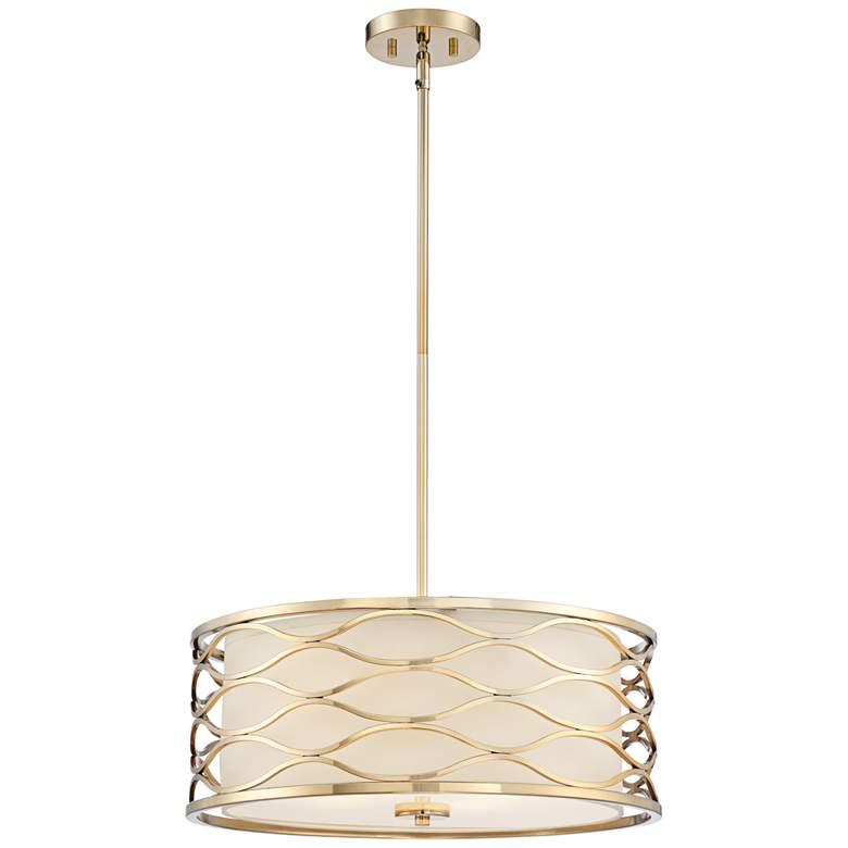 """Austen 20"""" Wide Plated Gold Pendant Light"""