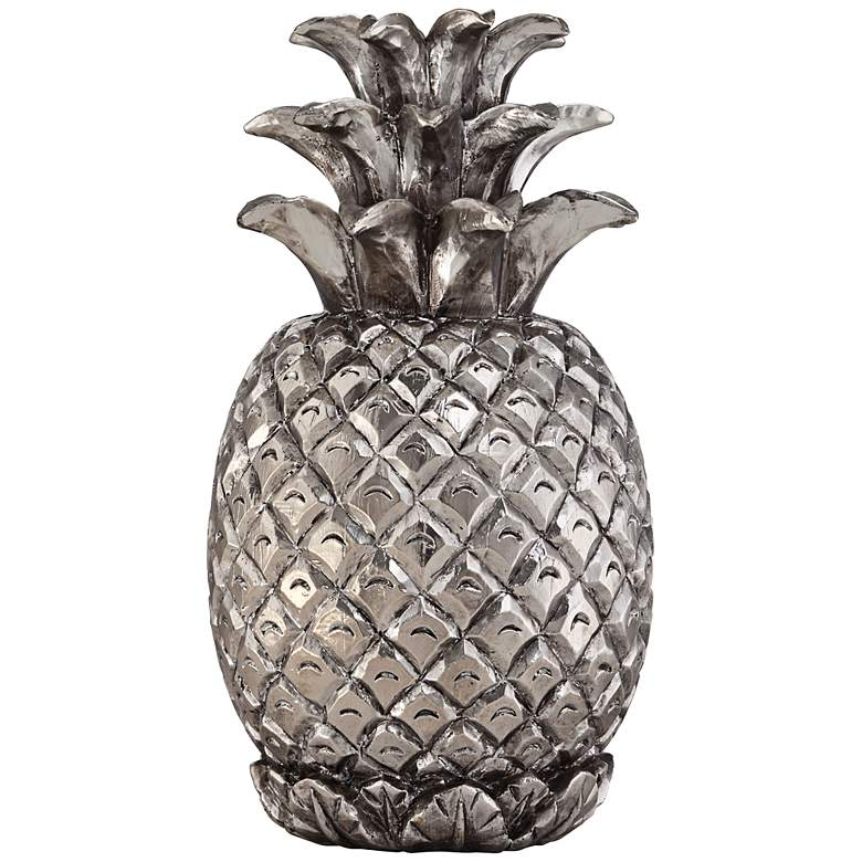 "Silver Pineapple 11 3/4"" High Figurine"
