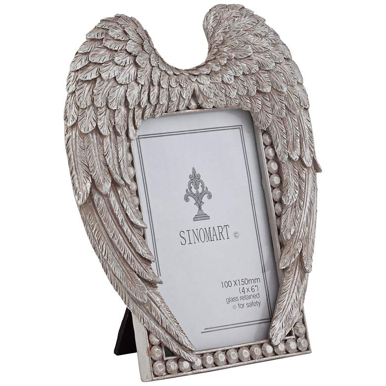 Angel Wings 4x6 Silver Photo Frame