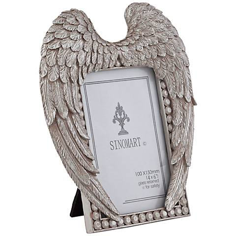 Angel Wings 4x6 Silver Photo Frame - #8H871 | Lamps Plus Canada