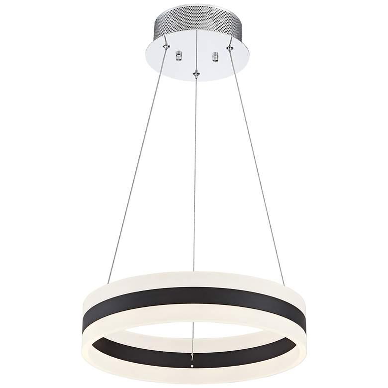"Possini Euro Elfi 15 3/4"" Wide Chrome LED Circle Pendant"