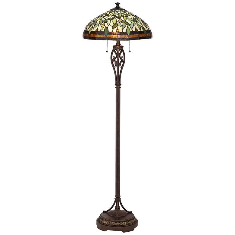 Leaf and Vine II Tiffany Style Floor Lamp