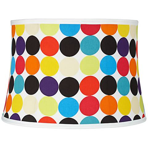 Multi-Color Circles Softback Drum Shade 14x16x11 (Spider)