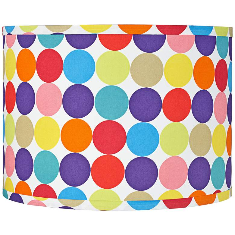 Multi-Color Circles Pattern Drum Shade 15x15x11 (Spider)