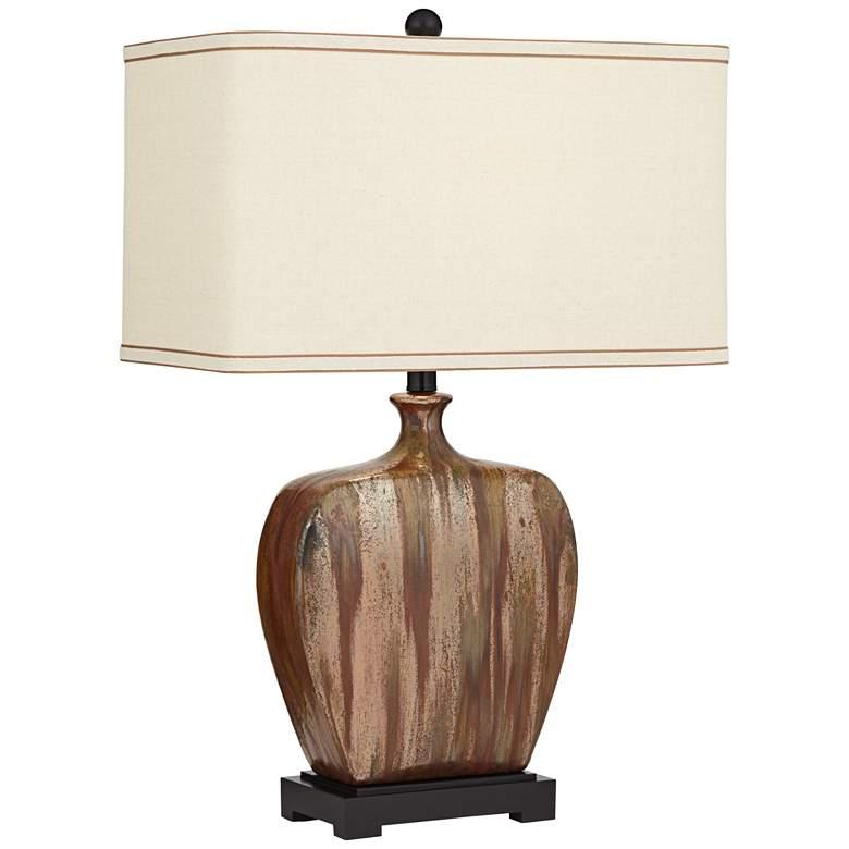 Julius Copper Drip Finish Ceramic Table Lamp