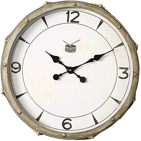 "Uttermost Rope Snare 21"" Round Wall Clock"
