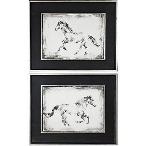 "Uttermost 2-Piece Equine Study 33 3/4"" Wide Wall Art Set"