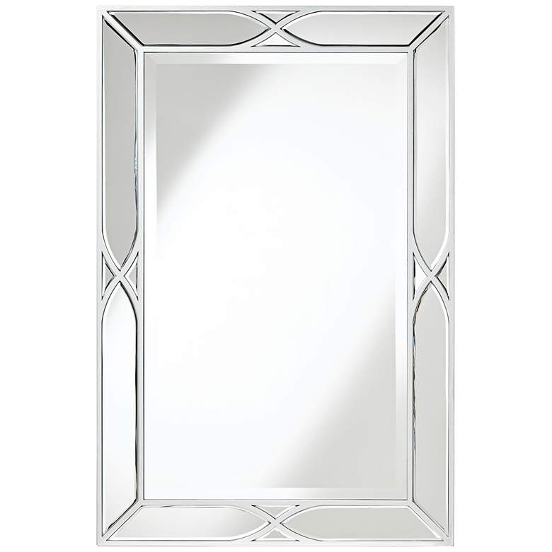 """Tryon Silver 25"""" x 38"""" Beveled Wall Mirror"""