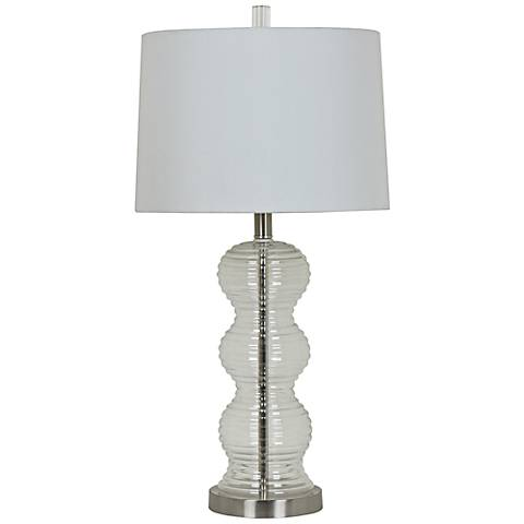 Crestview Collection Serenity Clear Glass Table Lamp
