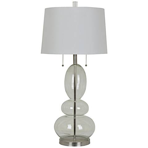 Crestview Collection Olaf Clear Glass Table Lamp