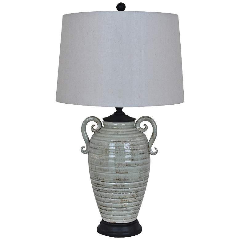 Crestview Collection Santa Cruz Gray Ceramic Table Lamp