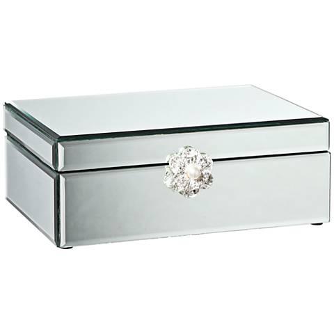 Hester Silver Mirrored Decorative Jewelry Box
