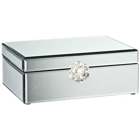 Hester Silver Mirrored Decorative Jewelry Box