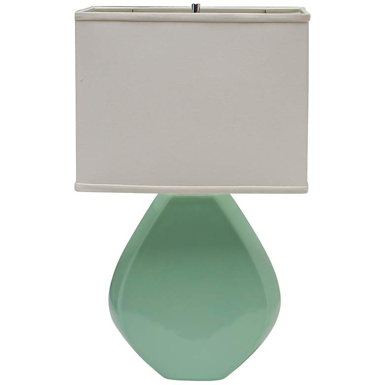 Haeger Potteries Octagon Seafoam Green Table Lamp