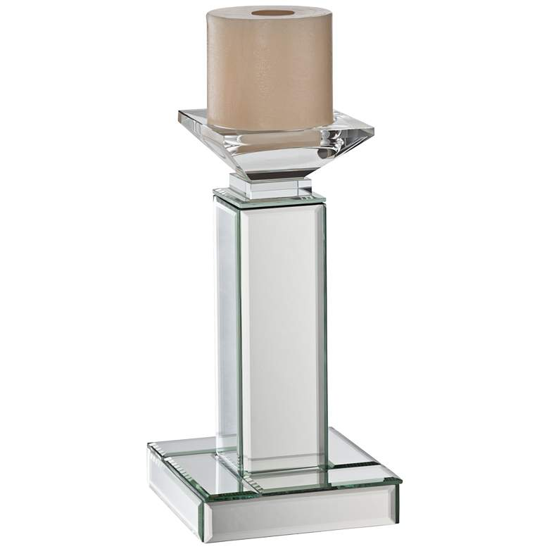 "Chisolm 10"" High Glass and Mirrors Candle Holder"