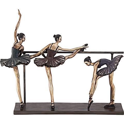 "Stretching Ballerinas 11 3/4"" High Figurine"