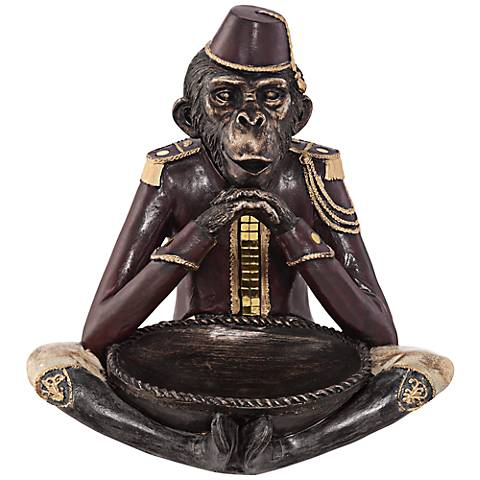 "Cross Legged Monkey 9 3/4"" High Figurine"