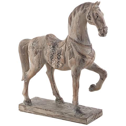 """Rustic Horse 15 1/4"""" High Statue"""