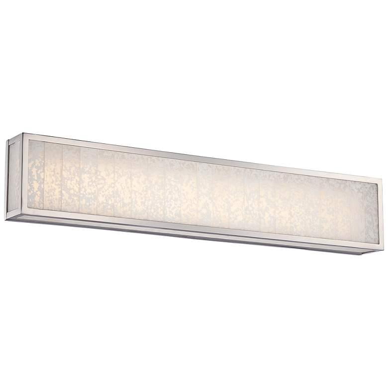 "Lake Frost 32""W Polished Nickel LED Bath Light"