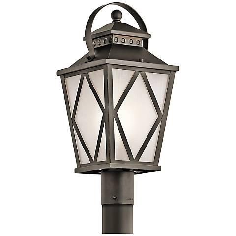 "Kichler Hayman Bay 19 3/4""H Old Bronze Outdoor Post Light"
