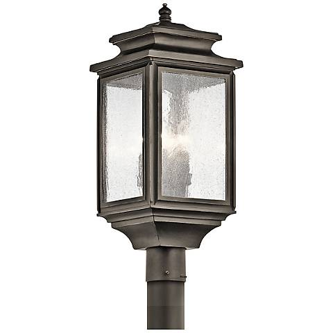 "Kichler Wiscombe Park 23 1/4""H  Bronze Outdoor Post Light"