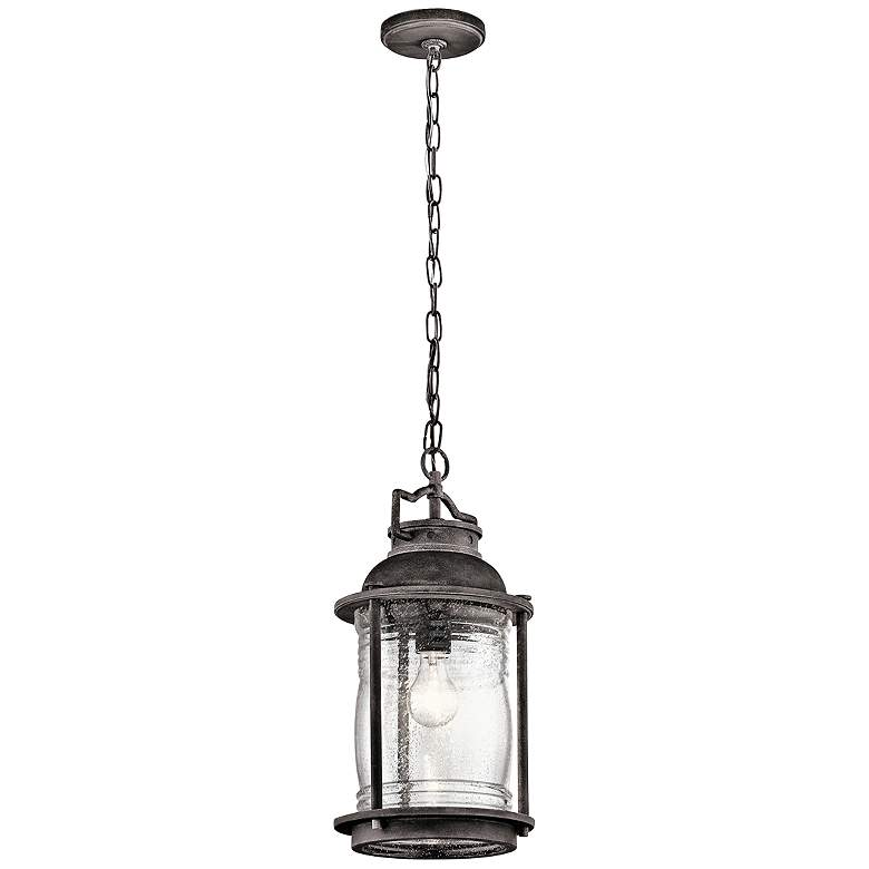 "Kichler Ashland Bay 17 3/4""H  Zinc Outdoor Hanging Light"