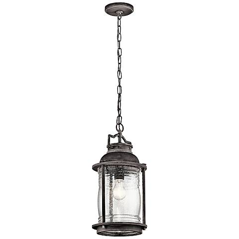"Kichler Ashland Bay 17 3/4""H  Zinc Outdoor Hanging Light"