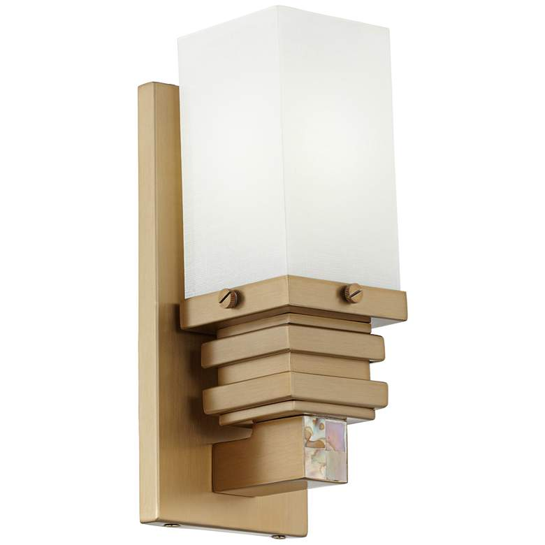 """8J885 - 10"""" Wallmount Stacked Lamp GU24 in Brushed Champagne"""