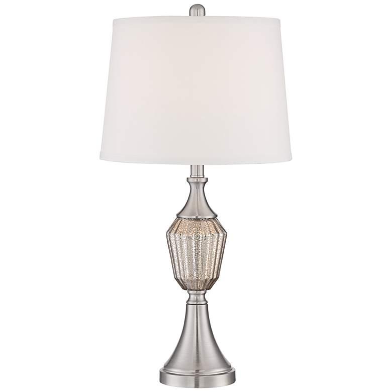 Haley Brushed Nickel Mercury Glass Table Lamp