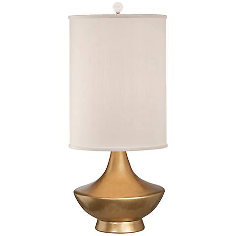 Thumprints Cleopatra Brushed Gold Lacquer Table Lamp