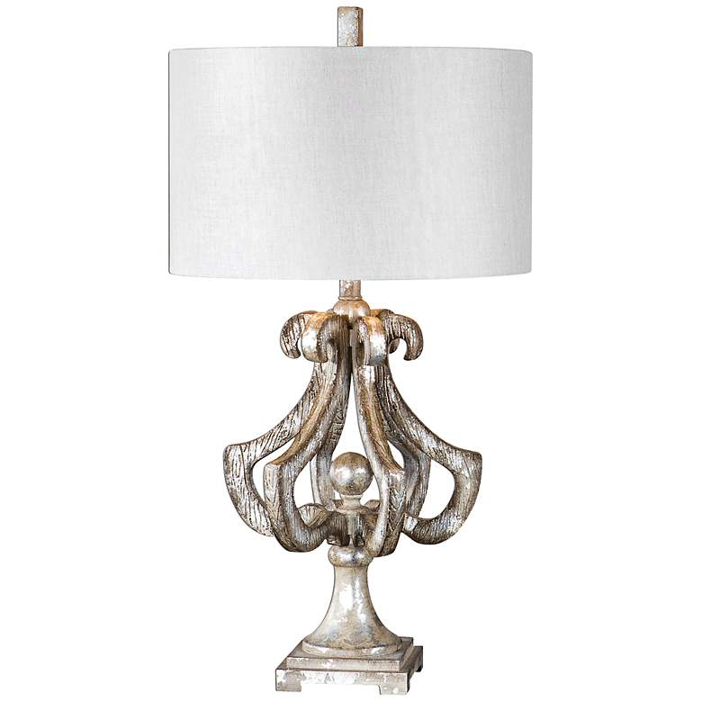 Uttermost Vinadio Distressed Silver Leaf Table Lamp