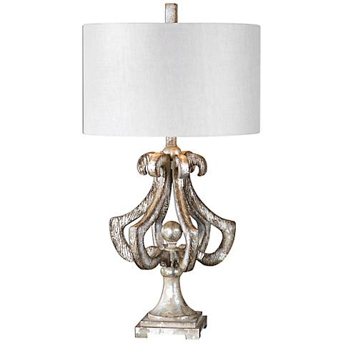 Uttermost Vinadio Distressed Silver Leaf Table Lamp