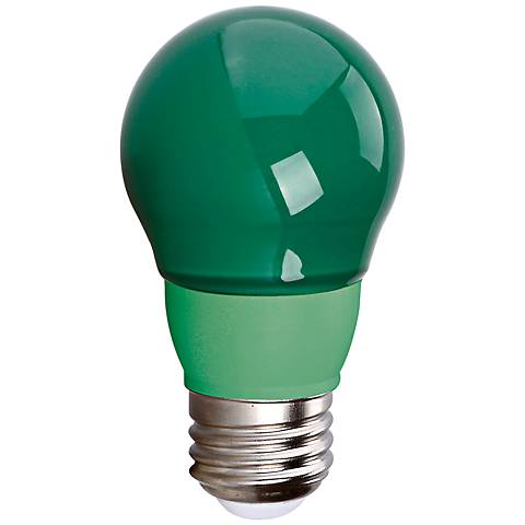 40W Equivalent Green 5 Watt LED Non-Dimmable Standard Bulb