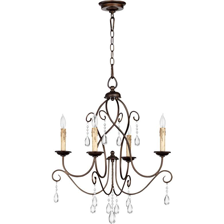 "Quorum Cilia 22""W Oiled Bronze 4-Light Chandelier"
