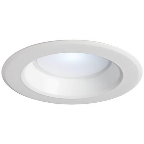 "6"" White Plain 15W - 1350 Lumen Dimmable LED Retrofit Trim"