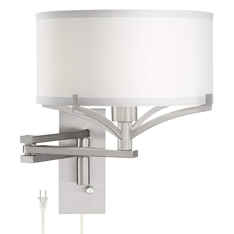 Tremont Brushed Nickel Metal Swing Arm Wall Lamp