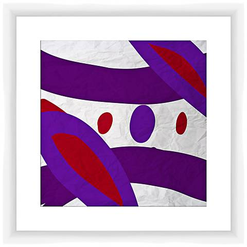 "Red and Violet II 17 1/2"" Square Abstract Framed Wall Art"