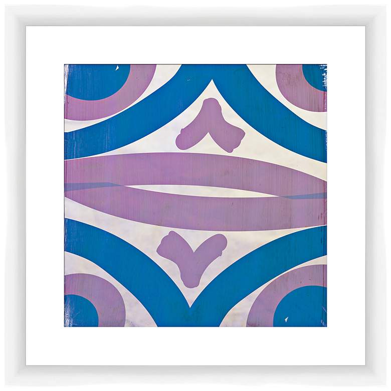 """Lavender and Teal Transitions I 17 1/2"""" Square Wall Art"""