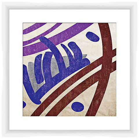 "Painted Pattern I 17 1/2"" Square Framed Abstract Wall Art"